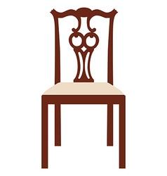 Vintage elegant chair vector image vector image