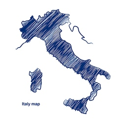 Italy map vector image vector image