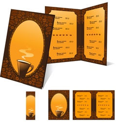 Menu and banner for cafe vector image vector image