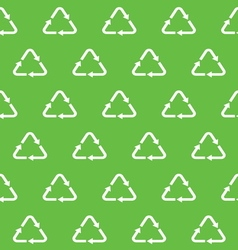 recycle seamless pattern vector image vector image