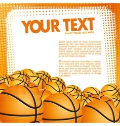 vector basketball background vector image