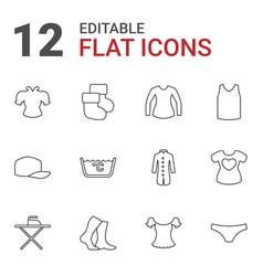 12 textile icons vector