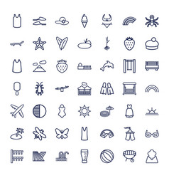 49 summer icons vector