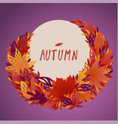 A bundle of bright filigree autumn leaves vector