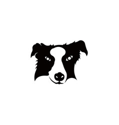 a dog head vector image