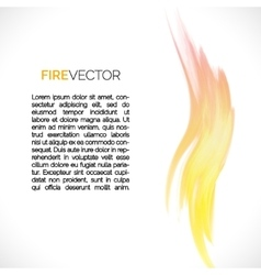 Abstract background with fire elements vector image