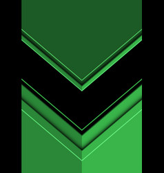 Abstract black arrow direction on green vector