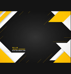 abstract of futuristic yellow and white geometric vector image