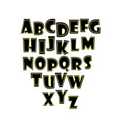 alphabet white background vector image