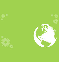 art happy earth day style vector image