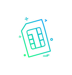Artificial card intelligence sim icon design vector