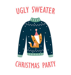 banner for ugly sweater party vector image