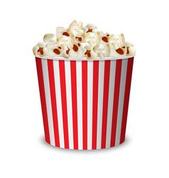 big popcorn pack mockup realistic style vector image