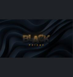Black friday sign 3d vector