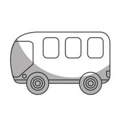 Bus van isolated icon vector