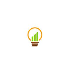 business graph idea lightbulb logo vector image