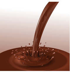 Chocolate flow background vector image