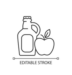Cider to go linear icon vector