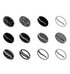 coffee bean - black color vector image