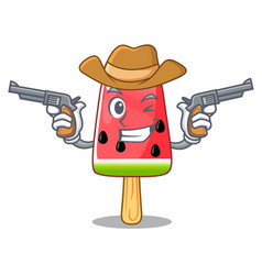 Cowboy summer watermelon the ice shaped cartoon vector