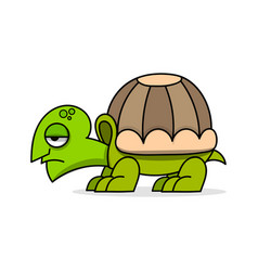 cute cartoon turtle on white vector image