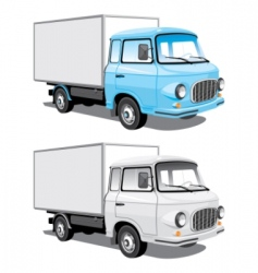 delivery truck vector image
