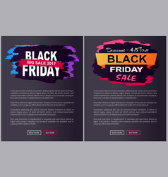 discount off black friday sale promo labels set vector image