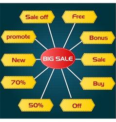 Discount price tag set vector