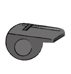 drawing american football whistle referee vector image