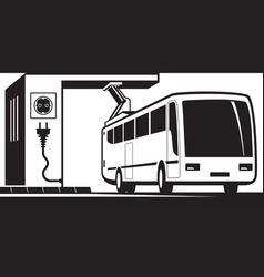 Electric bus charging station vector