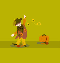 fashion in autumn vector image