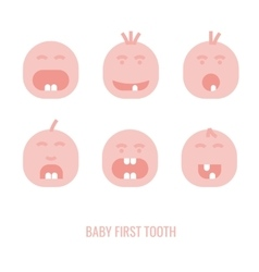 First tooth icons vector image