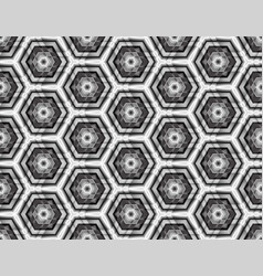 fractal seamless assembled from hexagons vector image