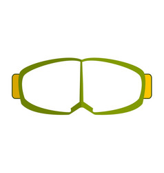 Goggles isolated on white background vector