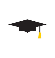 graduation cap graphic design template isolated vector image