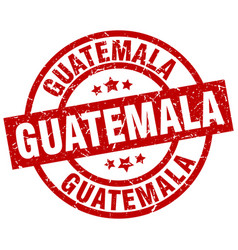 guatemala red round grunge stamp vector image