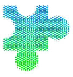 Halftone blue-green plugin icon vector