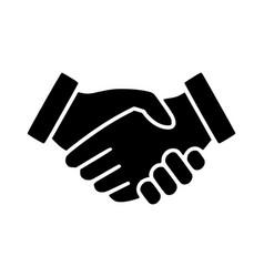 handshake business logo icon vector image