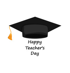 Happy teachers day banner vector