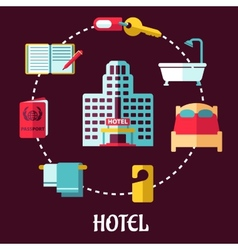 Hotel service flat design vector image