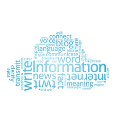 Information Cloud vector image