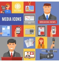 Journalism Icons Set vector
