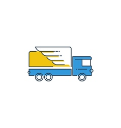 Logistics icon fast truck delivery logo concept vector image