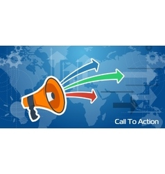 Long Web Background - Call To Action vector