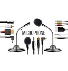 microphone for clothes voice recording vector image