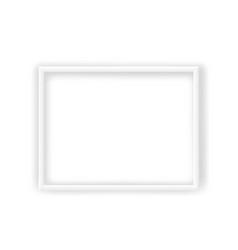 modern white frame isolated on white background vector image