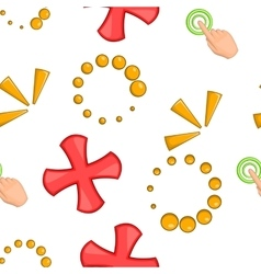 Mouse pointer pattern cartoon style vector