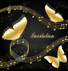 musical design elements vector image