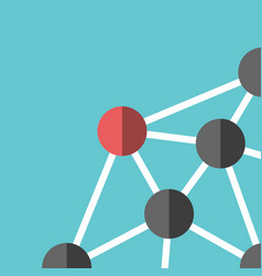 Network and leadership concept vector