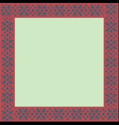norwegian traditional ornament square frame with vector image